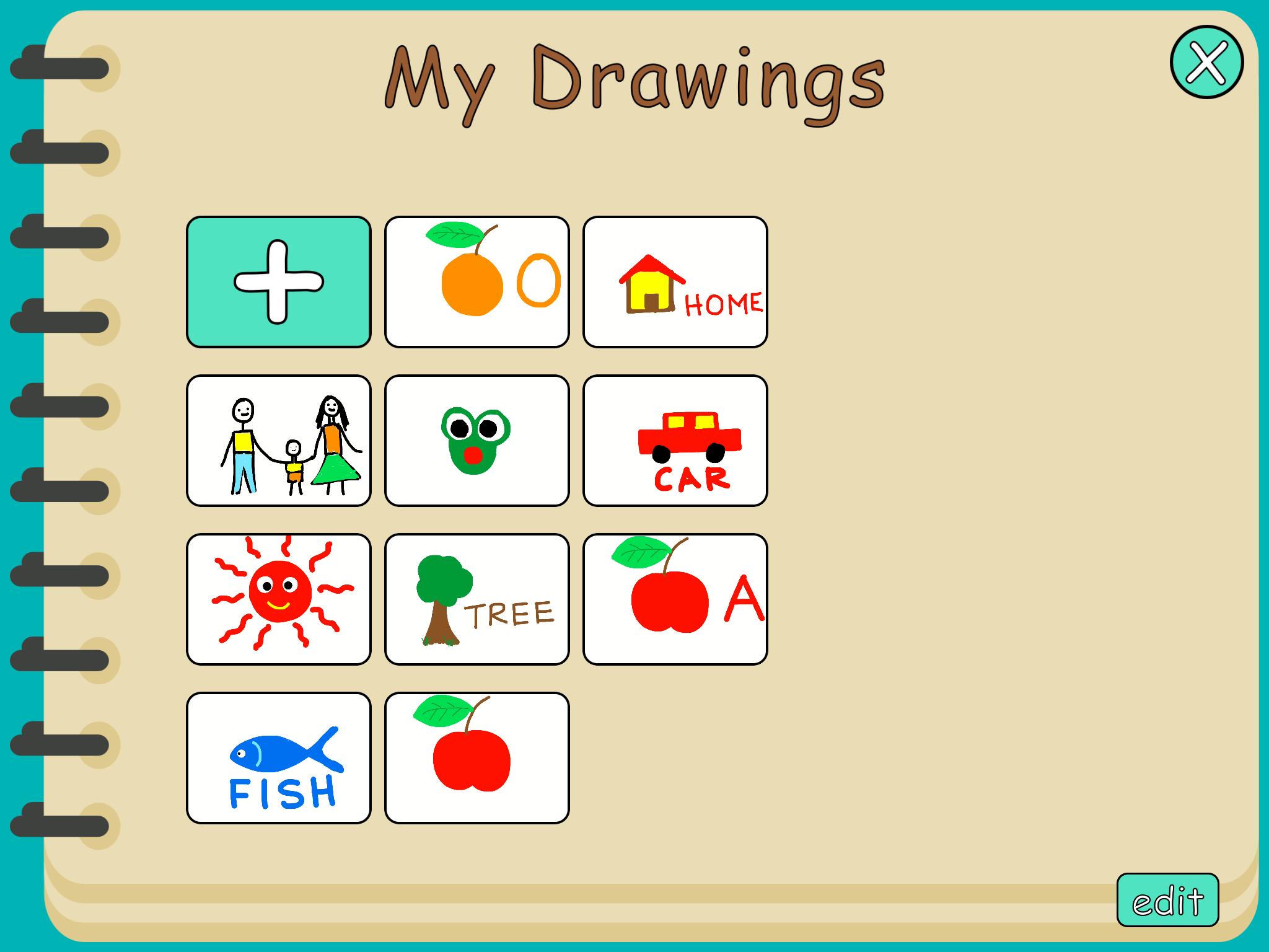 My Drawing App Menu